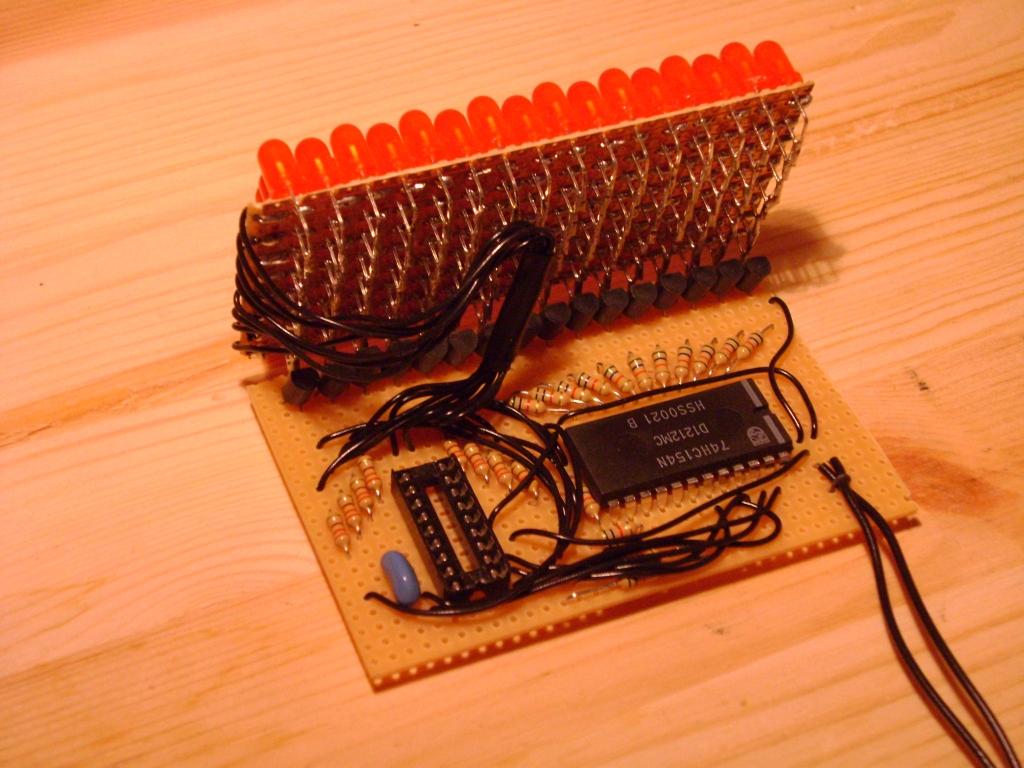 C0d1ng4fun Led Matrix Schematic For The Ledmatrix Showing 4x5 Control Logic And Driver Circuits